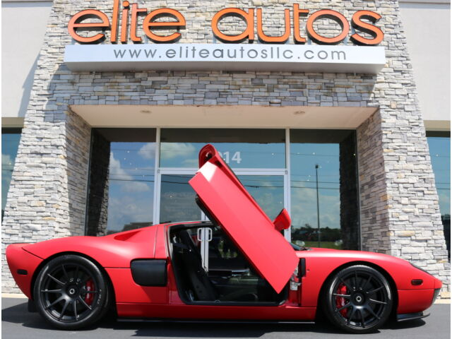 2006 Ford Ford GT Base Coupe 2-Door FORD GT TWIN TURBO Matte Red LOADED WITH CARBON FIBER Rare  BUTTER FLY DOORS