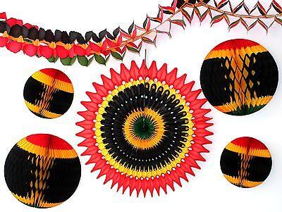 Kwanzaa Decorations (6-Piece Complete Kwanzaa Honeycomb Holiday Decoration Set)