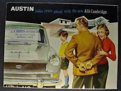 1959 Austin A55 Cambridge Sales Brochure Folder Excellent Original 59