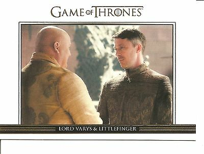 Game of Thrones Sea 3 Varys/Littlefinger Gold Parallel Trading Card DL3(262/300)