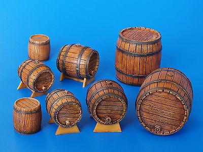 PLUS MODEL #204 Holzfässer für Diorama in 1:35