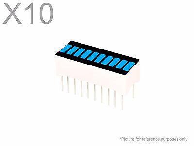 10 Pcs Blue Led 10-segment Bargraph Array Display New Bright