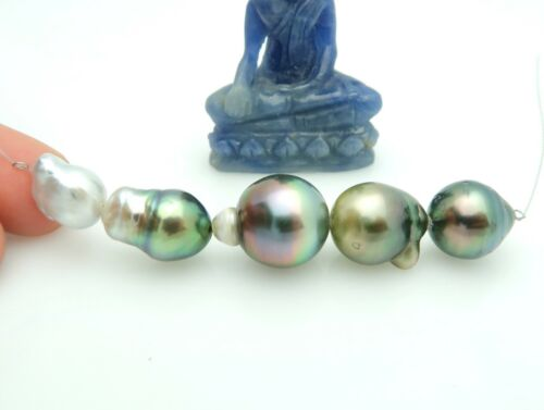 5 WILDLY GORGEOUS AA TAHITIAN & SOUTH SEA CULTURED PEARL MIXED SET