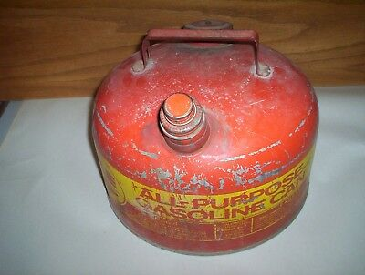 Vintage EAGLE All Purpose Gasoline 2 1/2 Gallon USA Galvanized Steel Gas Can  for sale  Ailsa Craig