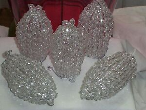 Set of 5 Czech Glass Beaded Chandelier Bulb Covers ~ Handmade in America