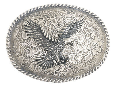 American Bald Eagle Antique Silver Western Belt Buckle