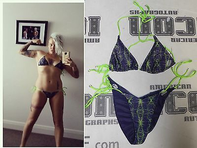 Bec Rawlings Signed Personally Used Tuf 20 Ufc Fight Weigh In Bikini Bas Coa Mma