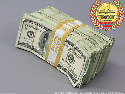 PROP MONEY USED LOOK $50,000 Blank Filler Pack for Movie FREE SHIPPING