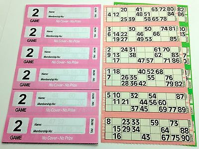 300 2 Page (Games) Books - XL Bingo Tickets Booklets- Similar to Jumbo
