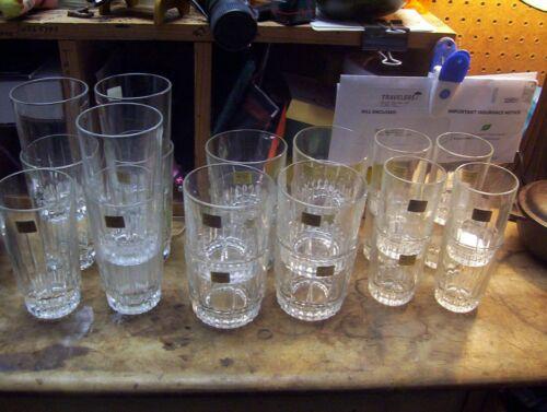 Arcoroc France Crystal Tumbler Glass Set of 23 Lancer Still have Stickers
