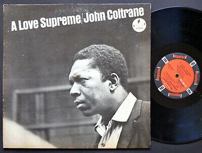 JOHN COLTRANE A Love Supreme LP IMPULSE! SMAS-90215 JAZZ McCoy Tyner Elvin Jones