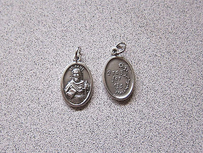 Holy Medal 27 in stainless Chain Saint St Paul (patron of authors, evangelists) (Paul Patron Saint Medal)