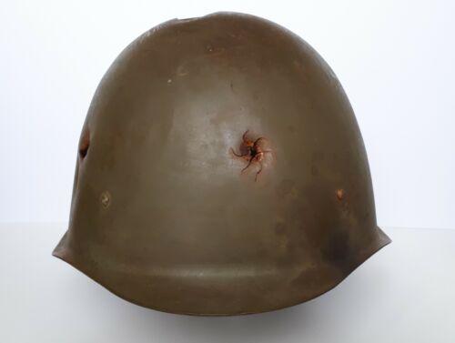 Russian Battle Damaged Steel Helmet WW2 WWII Red Army World War Relic SSh40 RKKA