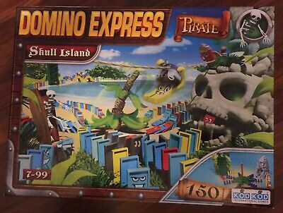Domino Express Pirate 'Skull Island' Board Game - RARE Dominoes Game for sale  Shipping to Ireland