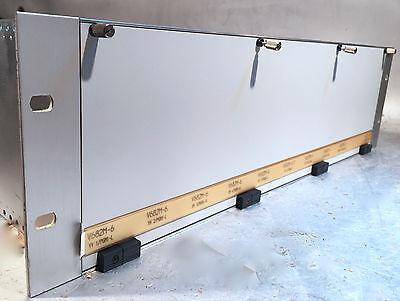 8 Stück AWT V682 6-fach Verteiler + 1x V672 im Rack mit XLR