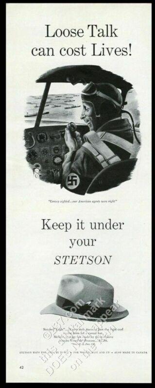 1943 evil Nazi pilot WWII art Stetson men