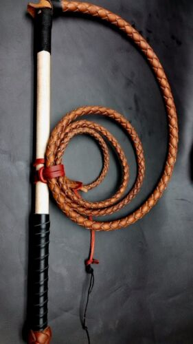6ft Cow hide stock whip leather Stockwhip