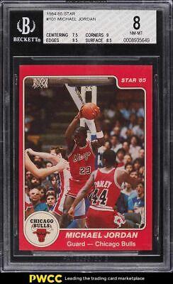 1984-85 Star Basketball Michael Jordan ROOKIE RC #101 BGS 8 NM-MT