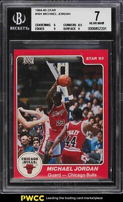 1984-85 Star Basketball Michael Jordan ROOKIE RC #101 BGS 7 NRMT