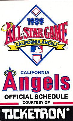 1989 CALIFORNIA ANGELS BASEBALL POCKET SCHEDULE