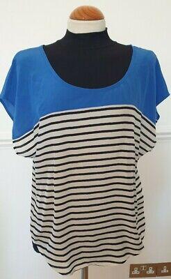 Joie Blue/Cream/Black Ladies Sleeveless Top Size M