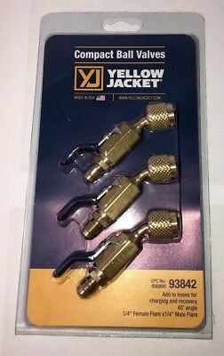 Yellow Jacket 93842 14 Compact Ball Valve 45 3 Pack