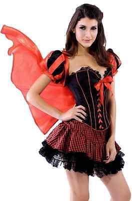 Damen Sexy Rotkäppchen Korsett Halloween Kostüm Kleid Outfit