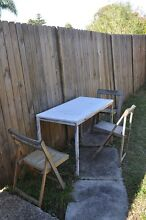 Free Outdoor Table with 3 wooden chairs Ermington Parramatta Area Preview
