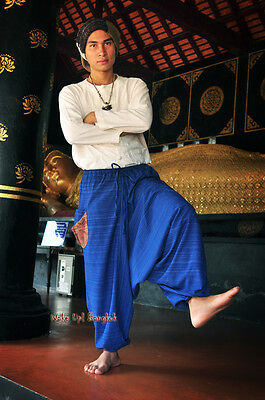 Pluderhose Haremshose Pumphose Shalwar Hose ALADINHOSE Hosenrock Hmong Blau 1503