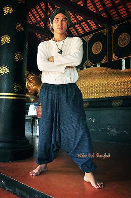 Hmong Haremshose Aladdin Goa Harem - 100% Baumwolle - Dunkelblau 1502