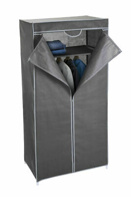 Stoff Kleiderschrank grau 160 cm - Stoffschrank Faltschrank Garderoben Schrank