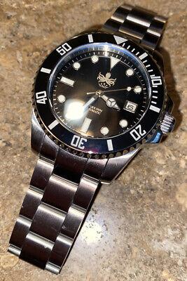 Men's Phoibos PY007C Black Dial 300m Automatic Divers Watch 40mm