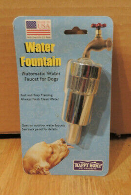 Automatic Water Faucet for Dogs Water Fountain Happy Home Pet Products USA Made