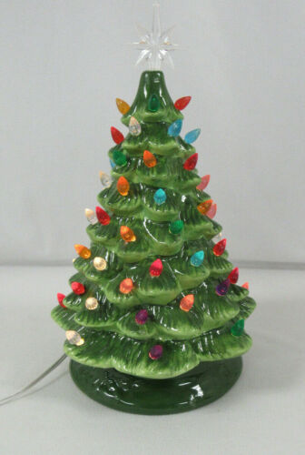 "Hallmark Christmas Is Forever 16"" Ceramic Light Up Christmas Tree"