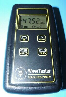 Laser Owl Wavetester Optical Power Meter Wtufx 1mm Ge 2.5 Universal Detector Usa