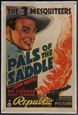 PALS OF THE SADDLE Original Vintage Western Movie Poster One Sheet John Wayne 38