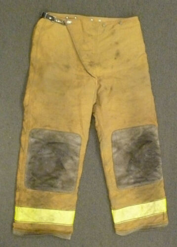 38x30 Globe Tan Firefighter Pants Turnout Bunker Fire Gear P052