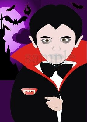 Vampire Halloween Party Games (Pin the Fangs on the Vampire/Halloween Party Spooky Game Activity 24-48)