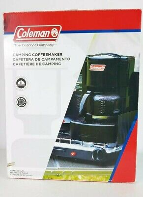 Coleman Camping Coffee Maker Black 10 Cup Coffee Maker Steel Base 2000015167 Coleman Stainless Steel Coffee Maker