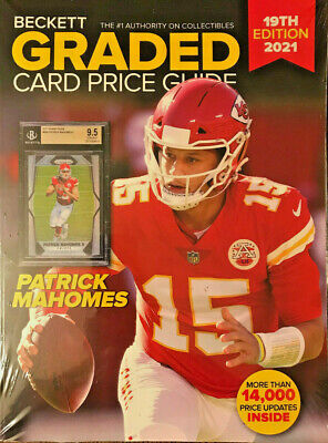 New 2021 Beckett Graded Card Price Guide 19th Edition With Patrick Mahomes