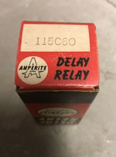 Vintage NOS Amperite Delay Relay, 115C60, SPST-NC 60 Seconds, 115 VAC/DC, 9 Pin
