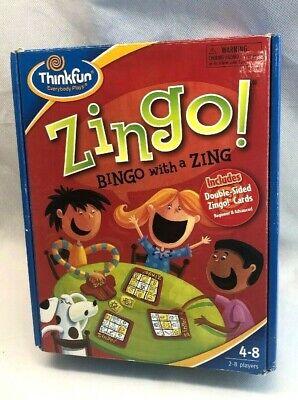 Zingo Bingo with Zing Thinkfun Brand Board Game for Ages 4 and up Home Schooling](Zingo Bingo)