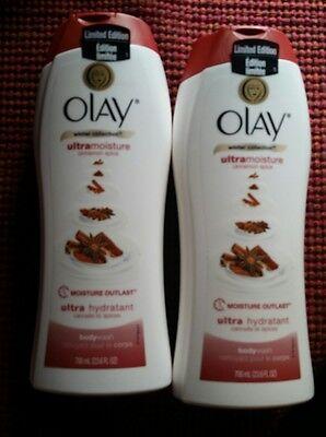 2X Olay Ultra Moisture Winter Cinnamon Spice Body Wash Limited Edition 23 Oz C15