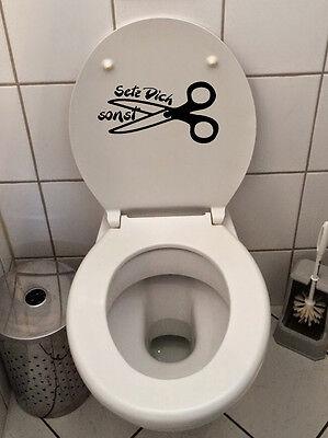 Klo Deckel Sticker Toiletten Aufkleber Fun Klo tattoo WC  Badezimmer setz dich