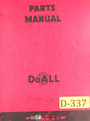 Doall C 1220a Ce1220a Power Saw 135 Page Parts List Manual