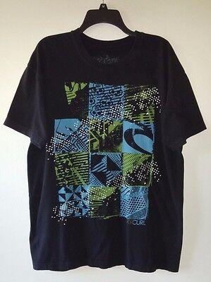 - Men's T-Shirt RIPCURL XL 100% Organic Cotton Cool Skull & Geometric Design Black