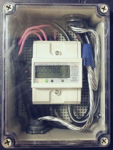 120V/480V 1,2,3 Phase electric kWh meter pulse, RS485 Internal CT + enclosure