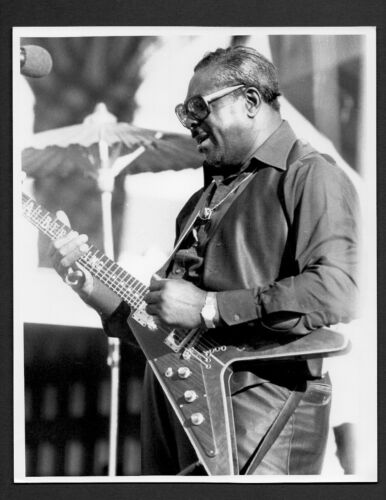 ALBERT KING blues guitarist and singer ORIG PHOTO by TOM COPI