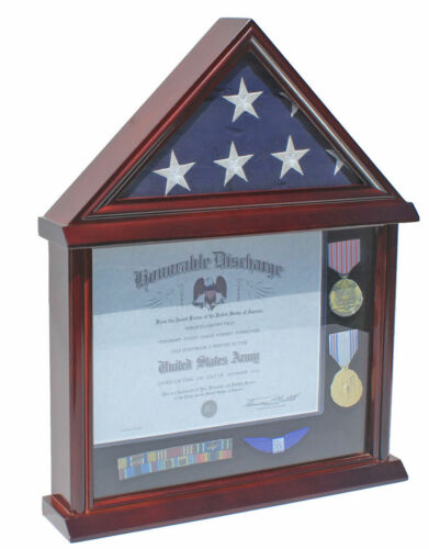 Flag Display Case Military Shadow box for a 3