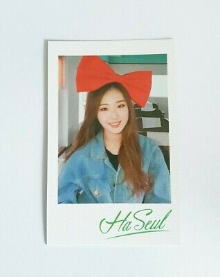 """MONTHLY GIRL LOONA Haseul Photocard - Official Premier Greeting """"Line&Up"""""""